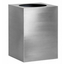 Durable Silver Finish 30 Inch Metal Planter