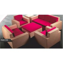Square Shape Garden Rattan Sofa Set(1 + 1 + 2 Full Set)