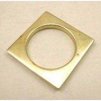 Square Shape Gold Color Napkin Ring