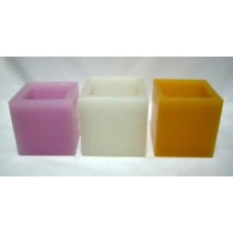Square Shape Hollow Candles(dim (mm)4''x 4''x 4'')