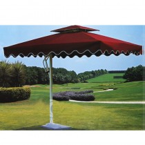 Square Side-pole Aluminum Red Umbrella