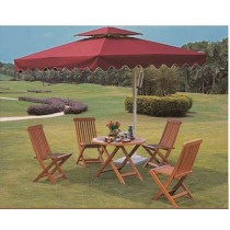 Square Side-pole Aluminum Red Umbrella(3.5 M)