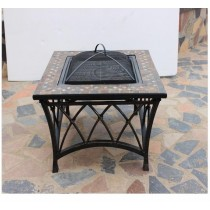 Square Table Firepit 86cm