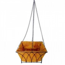 Square Tulip Design Steel Hanging Basket