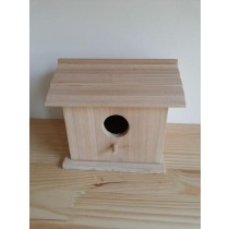 Square With Rectangle Shape Wooden Bird House