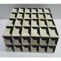 Square Wooden Jewellery Box 25X18X7