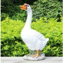 Standing White Duck Garden Sculpture