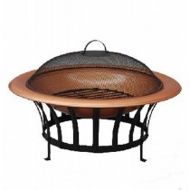 Steel Firepit With 30 Inch Blcak Steel Fire Bowl