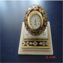 Stone Embossed Round clock