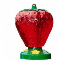 Strawberry Shaped Plastic Hanging Bird Feeder