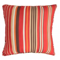 Striped 20 Inch Polyester Cushion