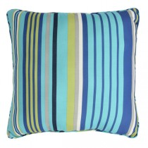 Striped 20 Inch Square Polyester Cushion