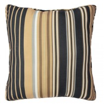 Striped Neutral 20 Inch Polyester Cushion