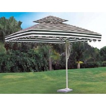 Strips Design Square Side-pole Aluminum Umbrella