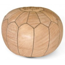 Stylish 13 Inch Round Floor Pouf