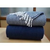 Stylish 50x60 Inch Cotton Throw Set of 2 Pcs