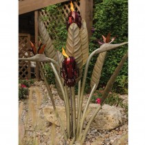 Stylish Bird Design Garden Tiki Torch