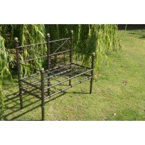 Stylish Black Finish Iron Garden Bench