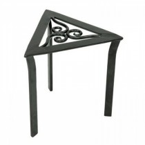 Stylish Black Metal Triangular Trivet  Plant Stand