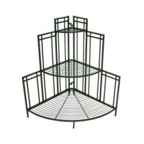 Stylish Black Steel Corner Plant Stand