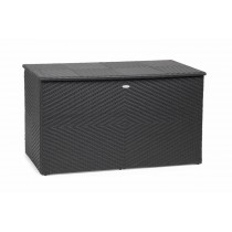 Stylish Black Synthetic Rattan Storage Box
