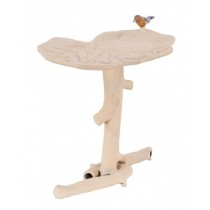 Stylish Cream Finish Aluminium Bird Bath