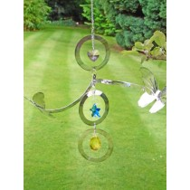 Stylish Crystal Butterfly Hanging Weathervanes
