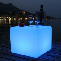 Stylish Cube Shape Color Changing Led Bar Table