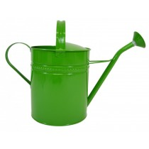 Stylish Green Finish Galvanized Steel Watering Can