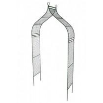Stylish Green Finish Wrought Iron Garden Arch