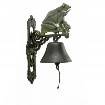 Stylish Hand Painted Frog Design Garden Bell