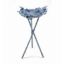 Stylish Lovebirds Design Bird Bath