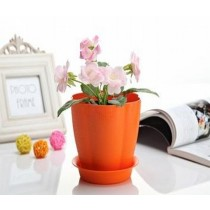 Stylish Orange Color Plastic Pumpkin Pot