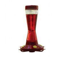 Stylish Red Color Glass Bird Feeder