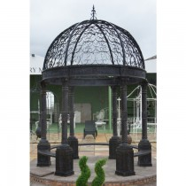 Stylish Unique Design Black Metal Gazebo