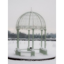 Stylish Unique Design Cream Metal Gazebo