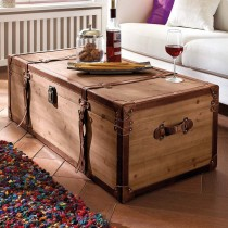 Stylish Wooden Storage Trunk