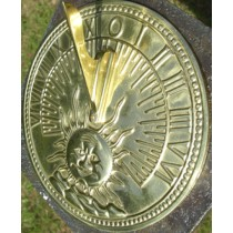 Sun Designed Polished Brass Garden Sundial