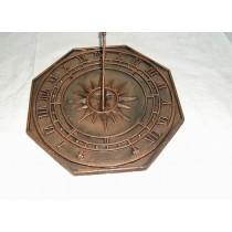 Sun Octagonal Cast Iron Sun Dial