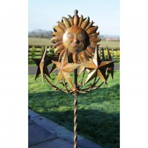 Sunflower and Stars Design Weathervanes