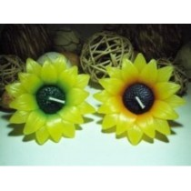 Sunflower Handmade Floating Candle-(1 Pcs)