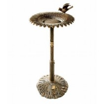 Sunflower With Bird Design Bird Bath