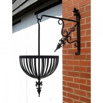 Superior Quality Black Finish Iron Hanging Basket