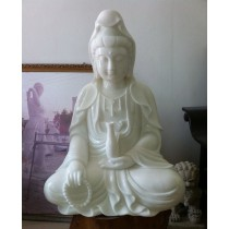 Superior Quality White Marble Buddha Statues