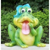 Surprise Green Frog Garden Sculpture