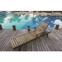 Teak Wood Classic Style Lounger