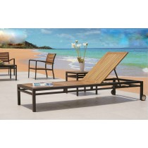 Teak Wood Lounger With Side Table(Full Set)
