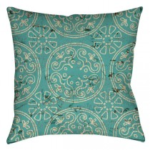 Teal Color 16 Inch Square Cushion