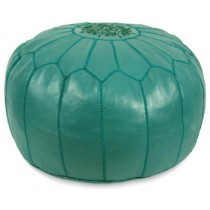 Teal Green Round Floor Pouf
