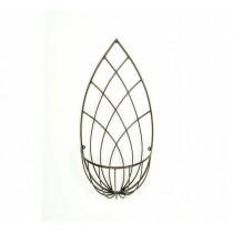 Tear Drop Planter Shape Iron Wall Basket